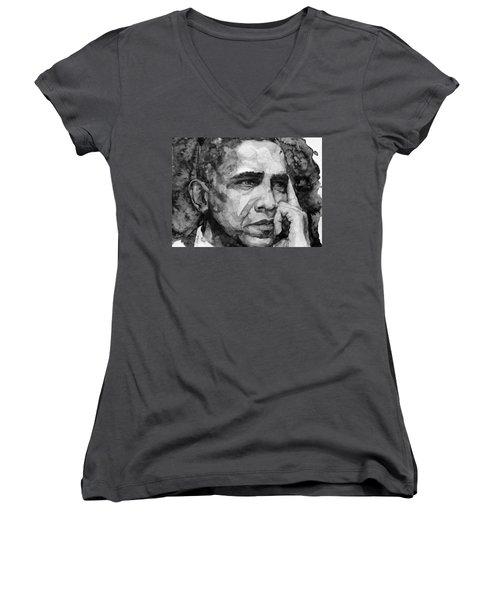 Barack Obama Women's V-Neck (Athletic Fit)