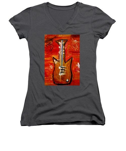 Bass Guitar 1 Women's V-Neck T-Shirt