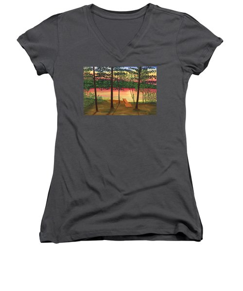 Bass Lake Women's V-Neck (Athletic Fit)