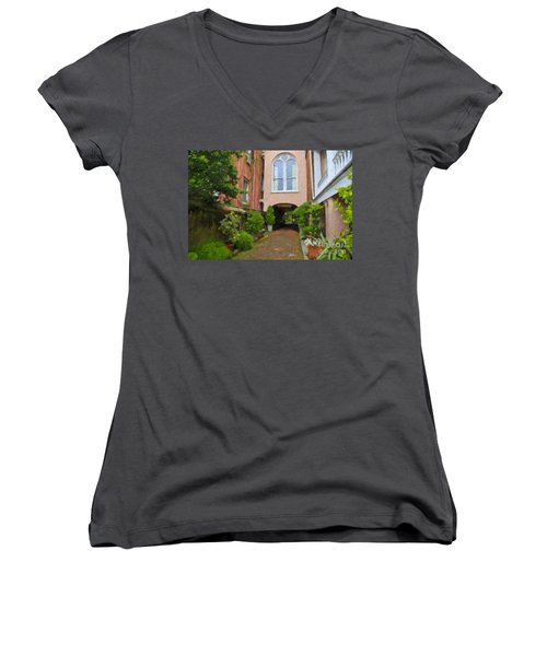 Battery Carriage House Inn Alley Women's V-Neck (Athletic Fit)