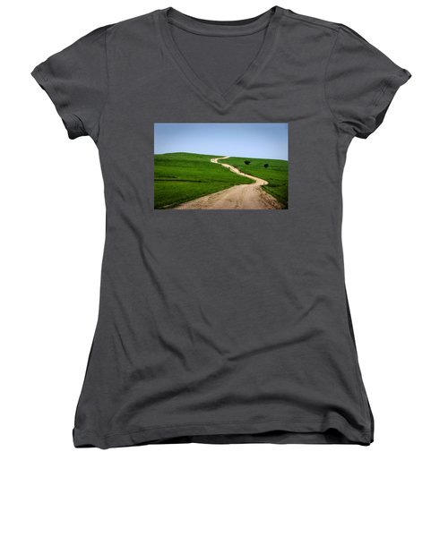 Battle Creek Road Teamwork Women's V-Neck T-Shirt