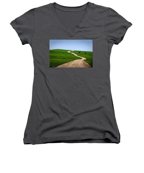 Battle Creek Road Teamwork Women's V-Neck T-Shirt