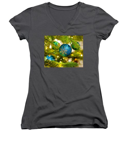 Bauble In A Christmas Tree  Women's V-Neck