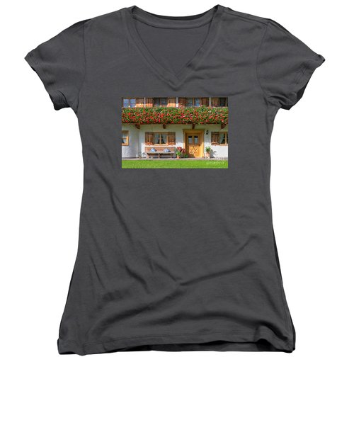 Women's V-Neck T-Shirt (Junior Cut) featuring the photograph Bavarianstyle by Juergen Klust
