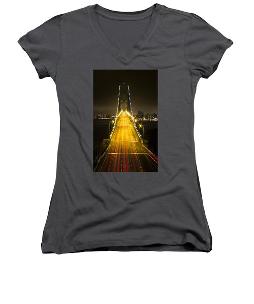 Bay Bridge Traffic Women's V-Neck