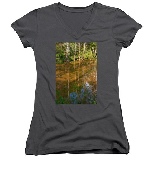 Bayou Reflections Women's V-Neck (Athletic Fit)