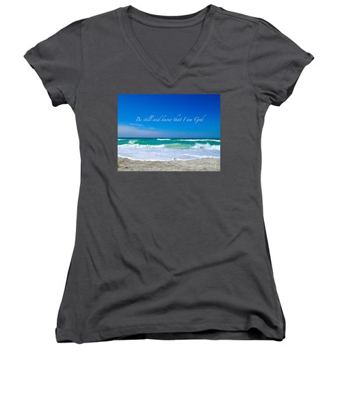 Be Still #4 Women's V-Neck T-Shirt