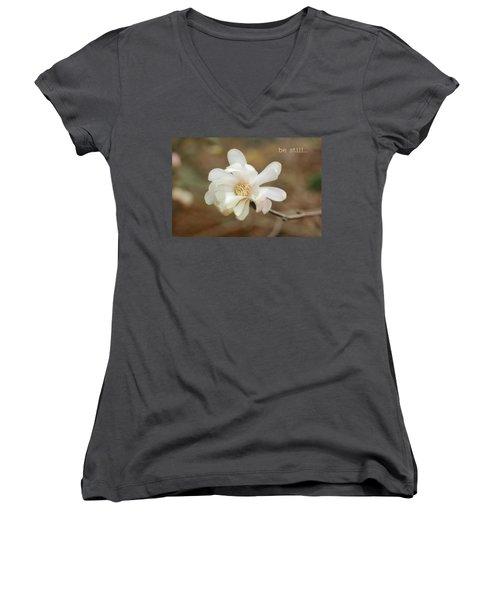 Be Still Women's V-Neck T-Shirt
