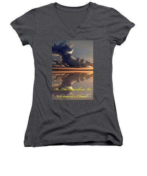 Be The Rainbow Women's V-Neck T-Shirt