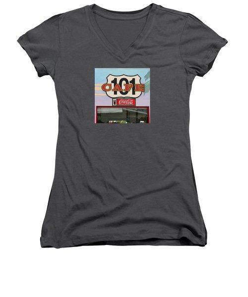 Beach Cafe Women's V-Neck T-Shirt