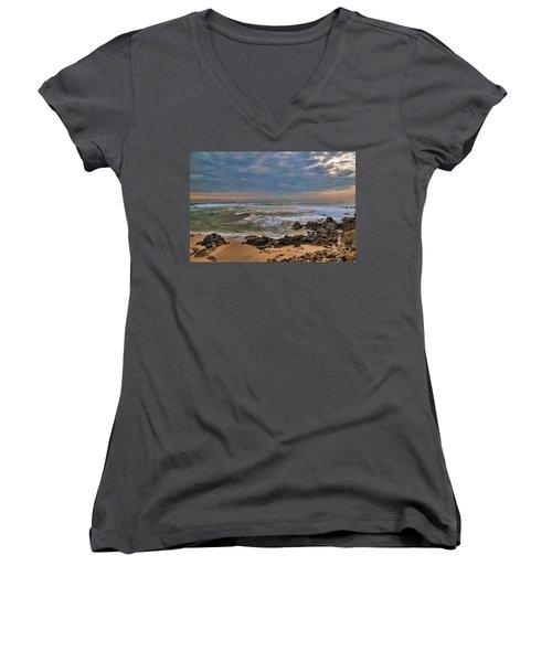 Beach Landscape Women's V-Neck (Athletic Fit)