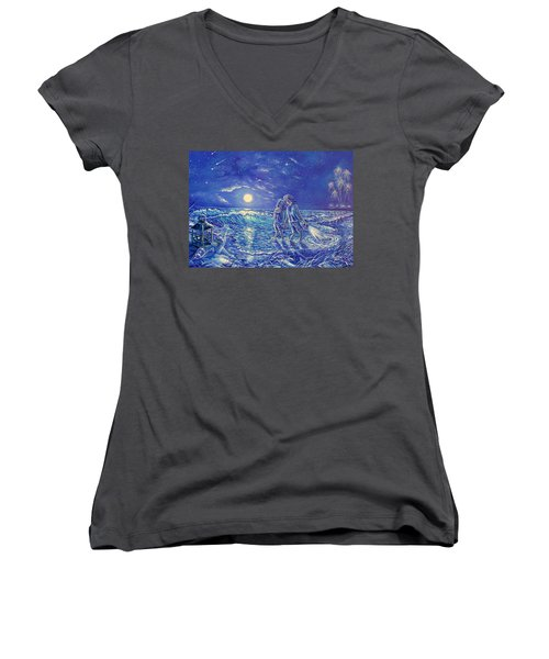 Beach Lites Women's V-Neck T-Shirt