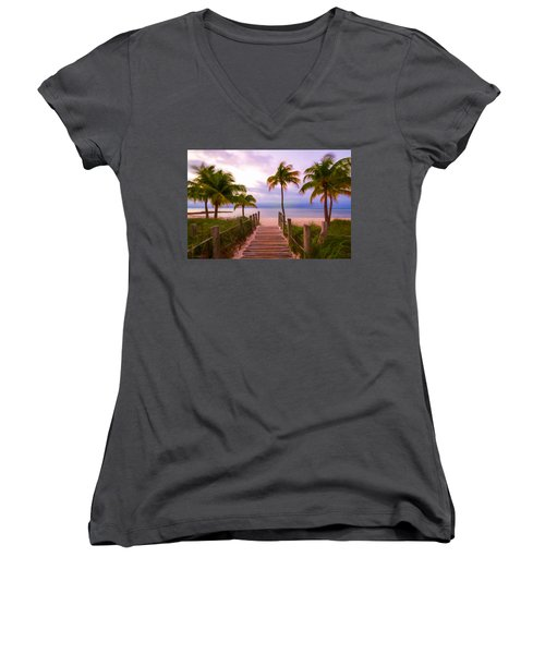 Beach Path Women's V-Neck