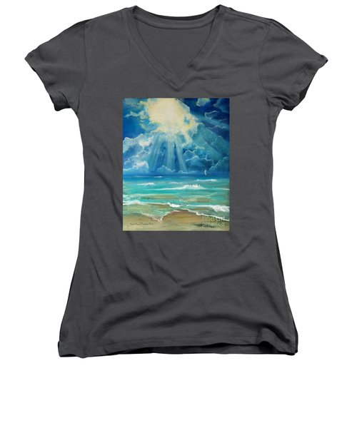 Beach Women's V-Neck T-Shirt