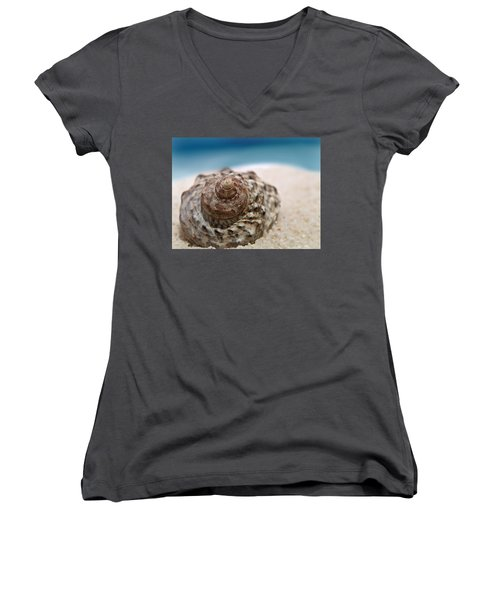 Beach Treasure Women's V-Neck T-Shirt (Junior Cut) by Micki Findlay