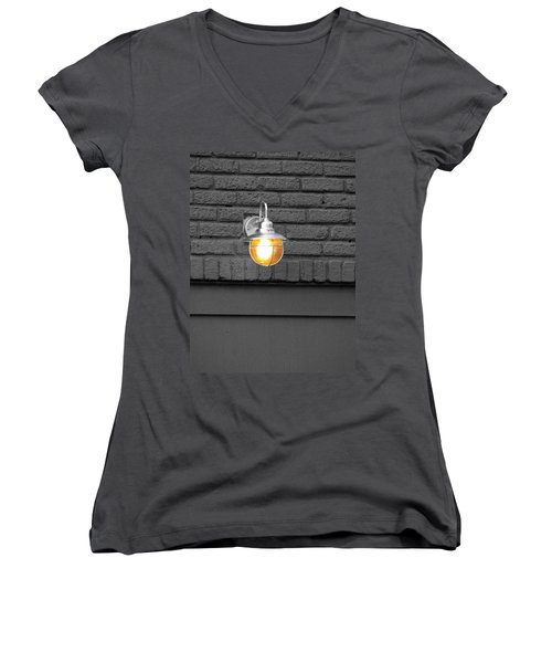 Women's V-Neck T-Shirt (Junior Cut) featuring the photograph Beacon by Rodney Lee Williams