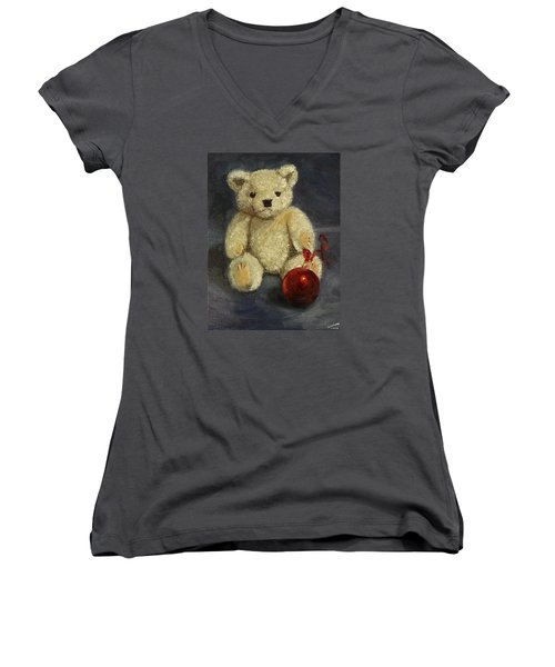 Beary Christmas Women's V-Neck T-Shirt