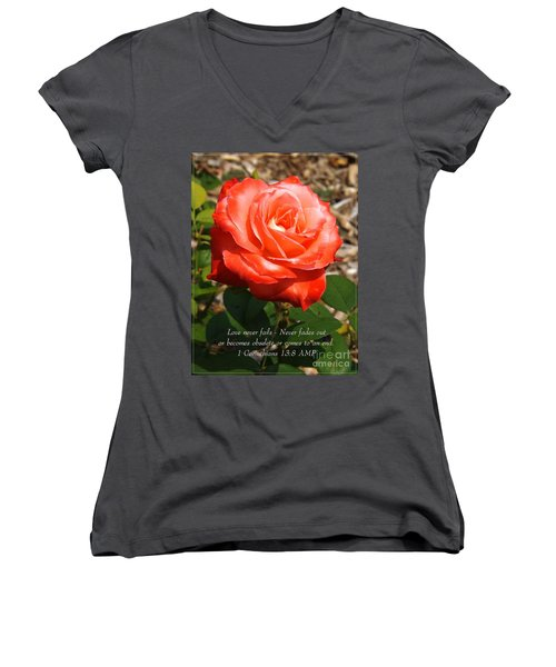 Beauty At Its Best Women's V-Neck (Athletic Fit)