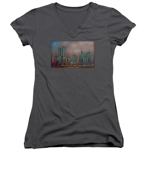 Before Women's V-Neck T-Shirt (Junior Cut) by Hanny Heim