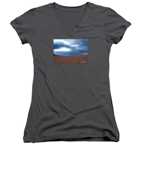 Women's V-Neck T-Shirt (Junior Cut) featuring the photograph Before The Storm by Susan  Dimitrakopoulos