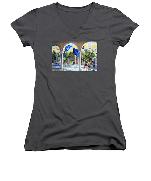 Bellagio Kite Flight Women's V-Neck T-Shirt