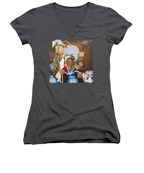 Bellona Goddess Of War Sister Of Mars Women's V-Neck