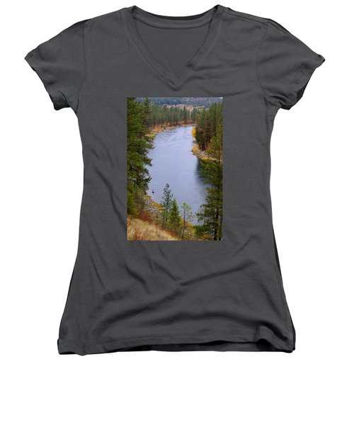 Bend In The River Women's V-Neck