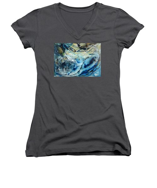 Beneath The Surface Women's V-Neck T-Shirt (Junior Cut) by Valerie Travers
