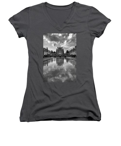 Women's V-Neck T-Shirt (Junior Cut) featuring the photograph Berry University by Rebecca Hiatt