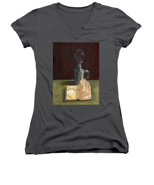 Bifocal Read Women's V-Neck T-Shirt (Junior Cut)