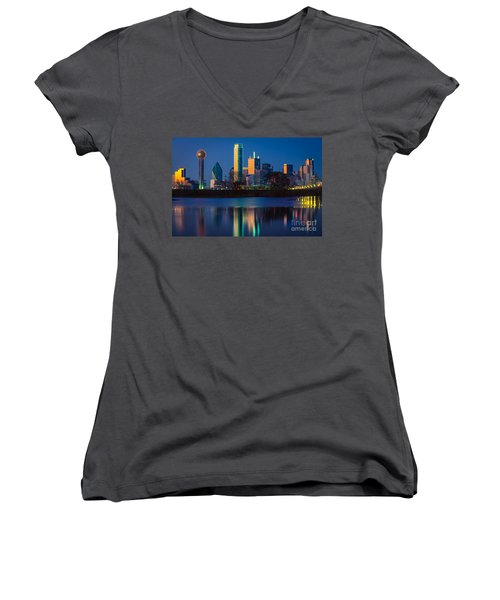 Big D Reflection Women's V-Neck