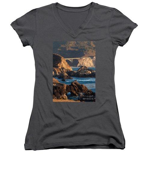 Big Sur Coastal Serenity Women's V-Neck T-Shirt