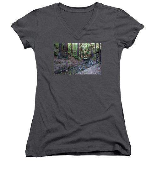 Bigfoot On Mt. Tamalpais Women's V-Neck