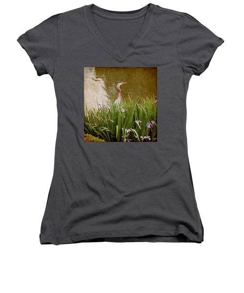 Bird In The Water Women's V-Neck