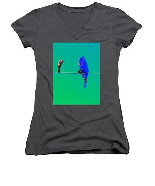 Birdwatcher Women's V-Neck T-Shirt