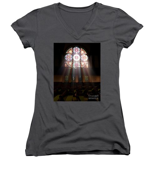Birmingham Stained Glass Women's V-Neck (Athletic Fit)