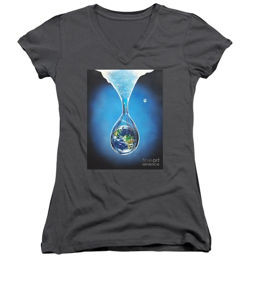 Birth Of Earth Women's V-Neck