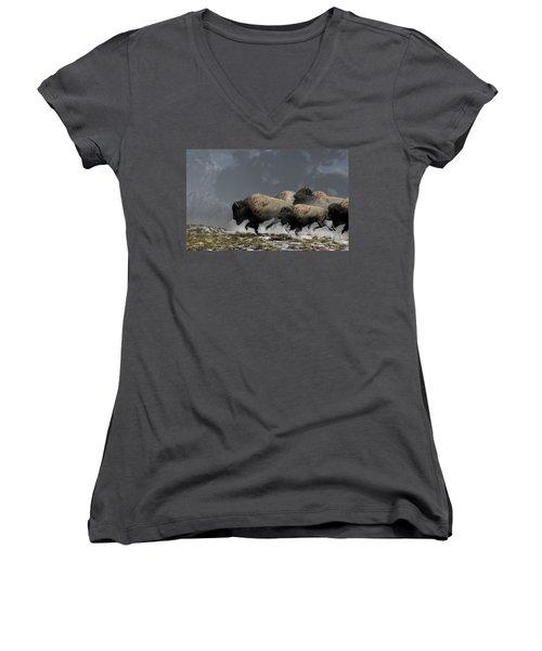 Bison Stampede Women's V-Neck