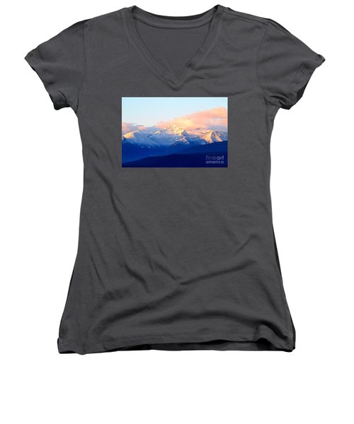 Bitterroot Mountains Montana Women's V-Neck T-Shirt (Junior Cut) by Joseph J Stevens