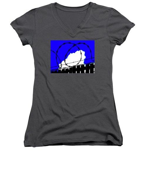 Black Barb Women's V-Neck T-Shirt