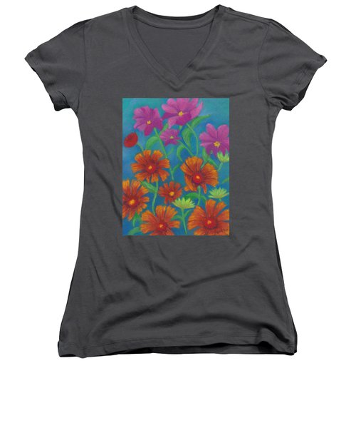 Blanket Flowers And Cosmos Women's V-Neck