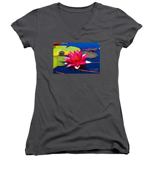 Blooming Lily Women's V-Neck