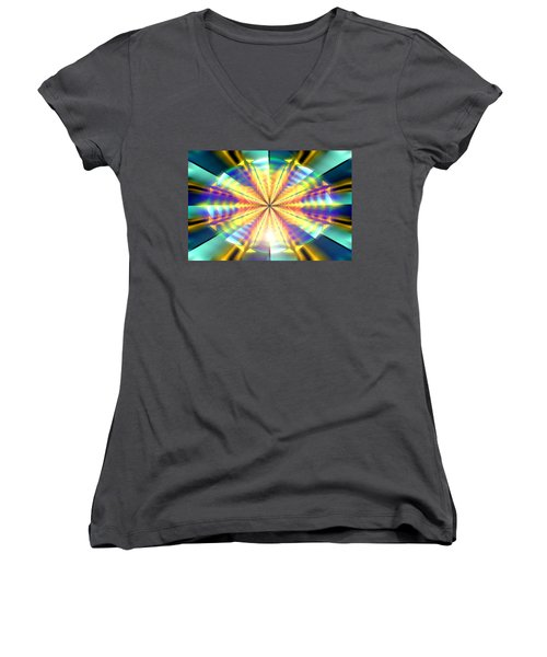 Women's V-Neck T-Shirt (Junior Cut) featuring the drawing Blooming Seasons by Derek Gedney