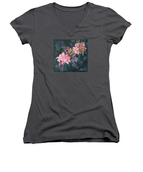 Blossoms For Sally Women's V-Neck