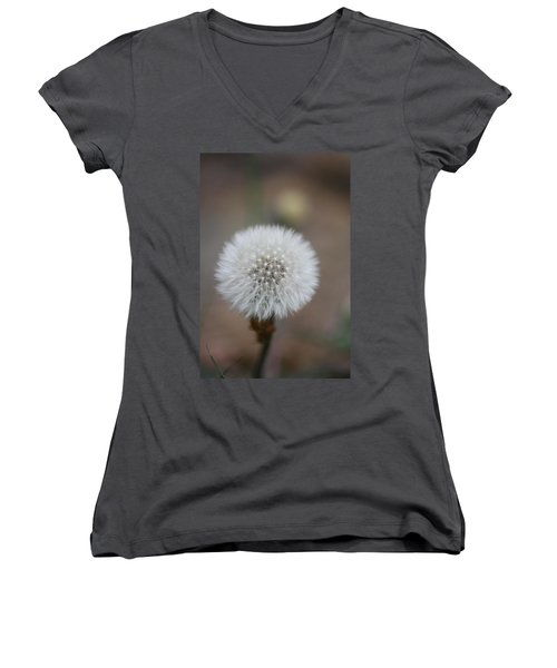 Blow Ball  Women's V-Neck T-Shirt (Junior Cut) by Daniel Precht