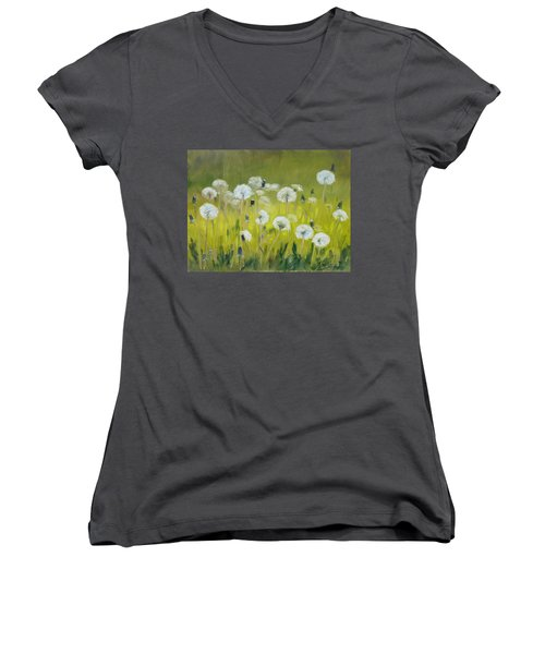 Blow Balls Women's V-Neck (Athletic Fit)