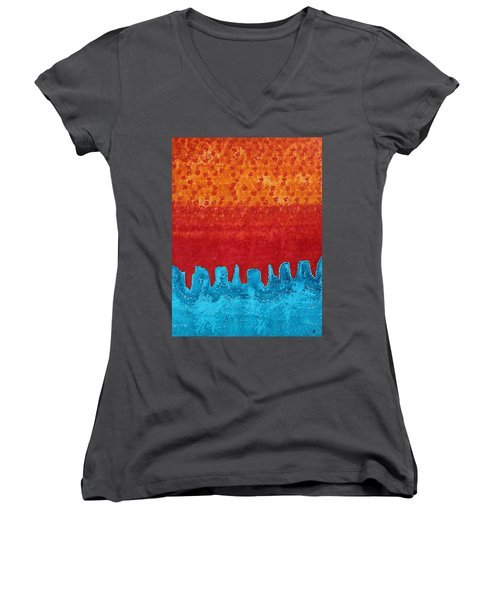 Blue Canyon Original Painting Women's V-Neck (Athletic Fit)