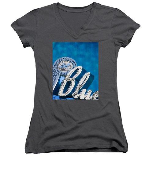 Blue Women's V-Neck