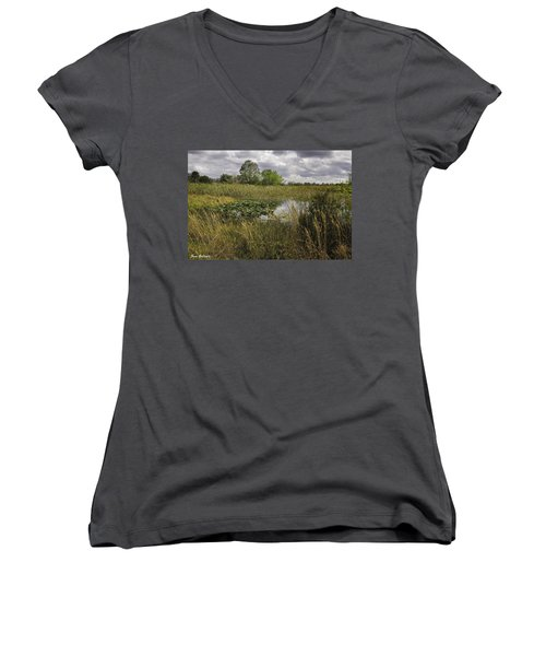 Blue Cypress Wetlands Women's V-Neck T-Shirt