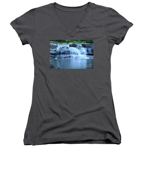 Blue Falls Women's V-Neck T-Shirt
